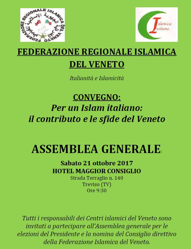 Assemblea generale Federazione Islamica del Veneto