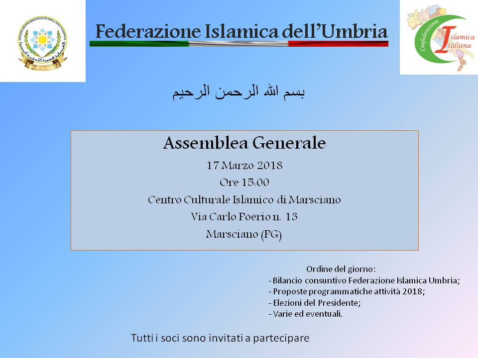 Assemblea Federazione Islamica dell'Umbria