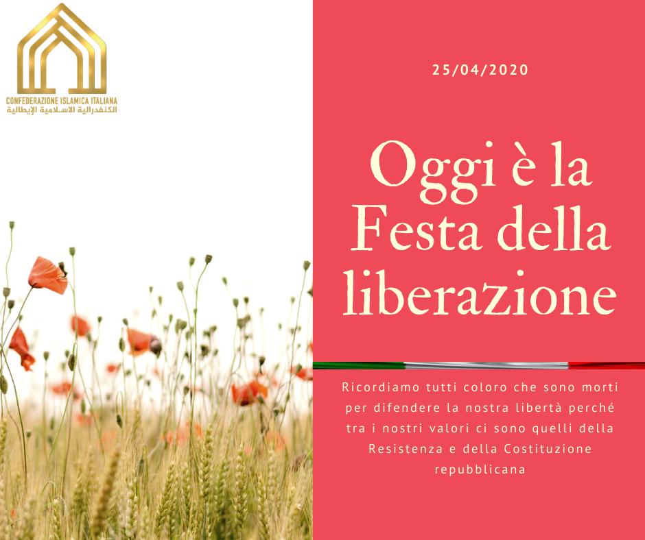 Giallo e Rosso Papavero Auguri Festa della Liberazione Post di Facebook